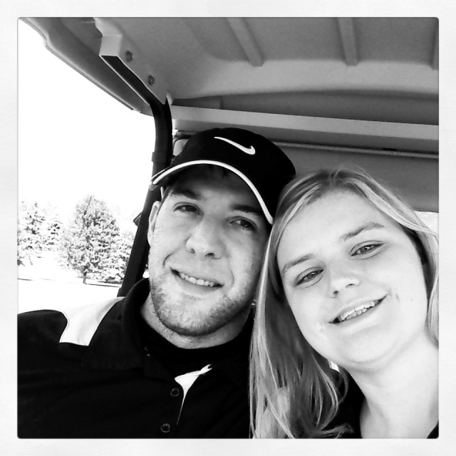 A pic of me and my wonderful, handsome, pain in the ass, adorable husband! :)